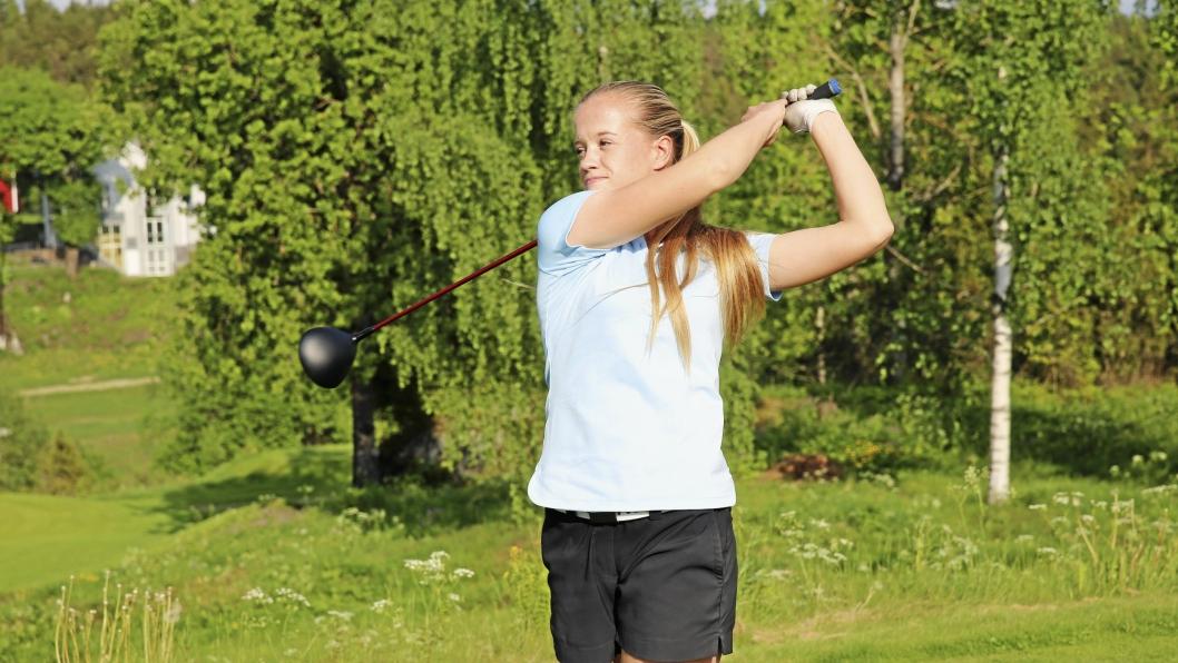 STORTALENT: Michelle Forsland er et kjempetalent innen sporten sin, og det er knyttet store forventninger til hennes golf-karriere.