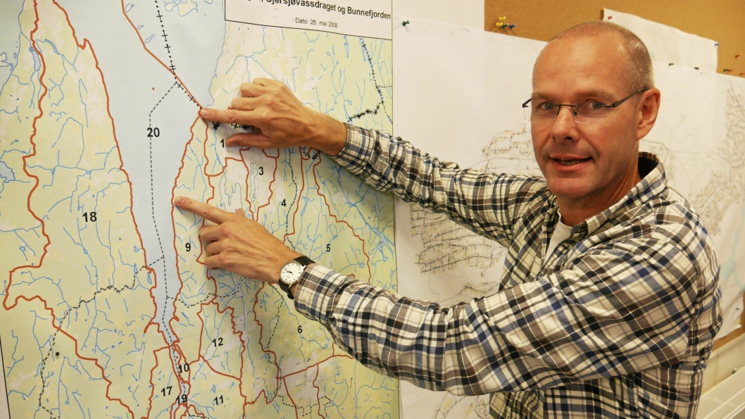 NYTT VA-ANLEGG: – Det skal først etableres en overføringsledning langs Bunnefjorden og et høydebasseng i området rundt Framveien, sier leder for planavdelingen i UTE Oppegård, Stig Bell.