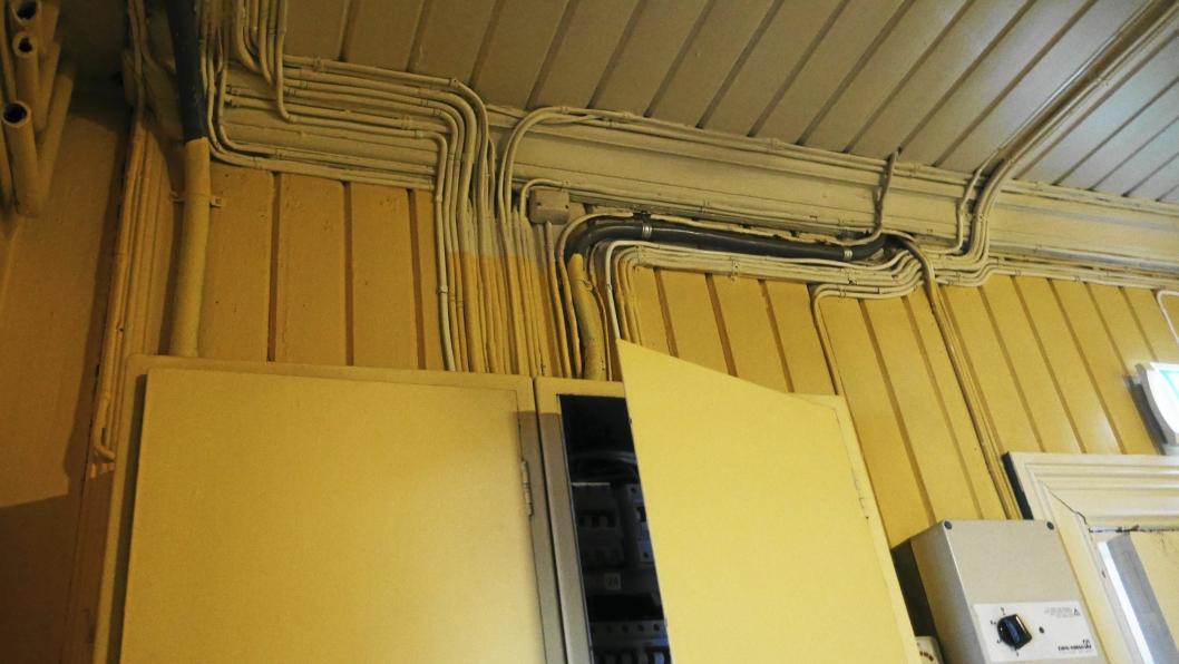SLITENT: Det elektriske anlegget er ikke akkurat toppmoderne, og har for liten kapasitet.