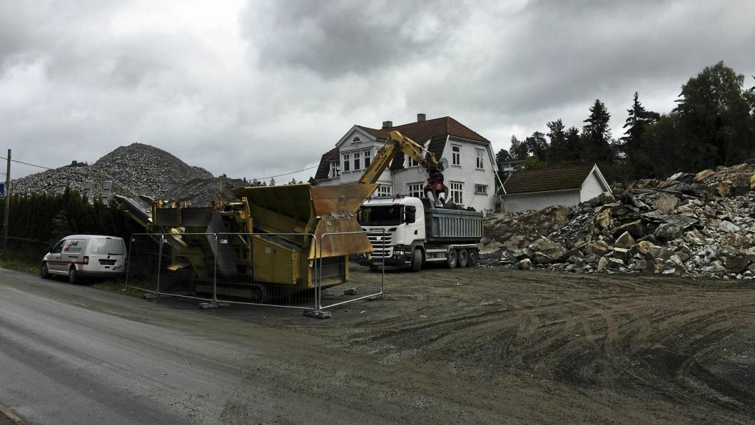 I DAG: Slik ser det ut på tomten der hvor Kolbotn Hage kommer til å bli bygget i dag.
