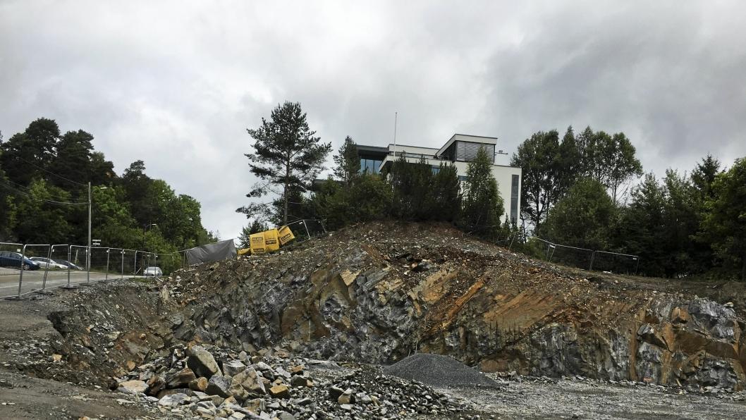 I DAG: Slik ser det ut akkurat nå på tomten der hvor Kolbotn Hengende Hage skal bygges.