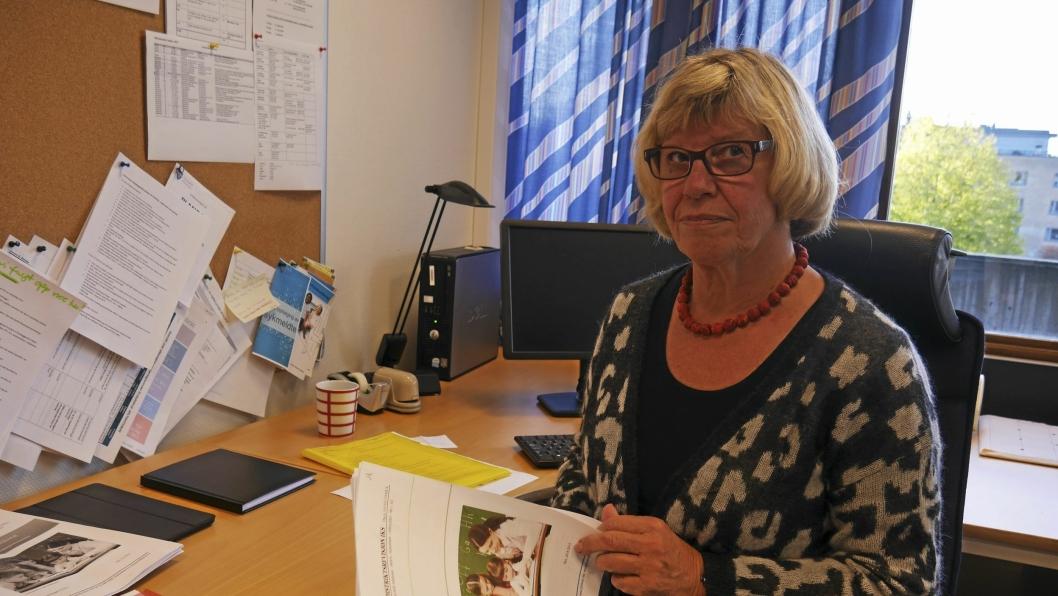INGEN MANNE-PLANER: Kommunalsjef Jorunn B. Almaas forteller om en manglende rekrutteringsplan for menn i for eksempel læreryrket.