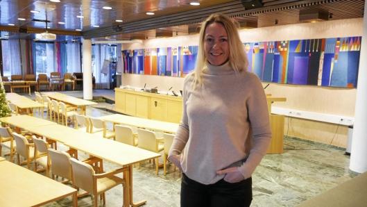 STEMTE FOR: Siv Kaspersen (H). Foto: Anders Nordheim Dahl.