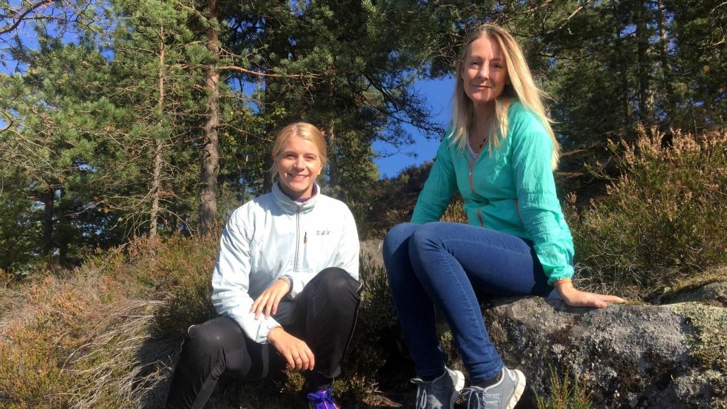 ENGASJERT I DEBATTEN: Ida LIndtveit og Siv Kaspersen engasjerer seg i debatten rundt utbyggingen av Rikeåsen.