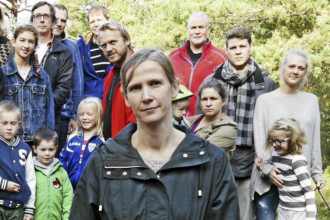 BEKYMRET FOR SKOGEN: – Skogen på Rikeåsen er en lunge for oss, sier Ragnhild Heyerdahl. Foto: Yana Stubberudlien.