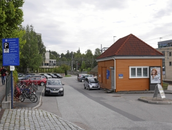 PAKHUSET: Fylkeskommunen vil verne pakhuset ved Kolbotn stasjon. Foto: Yana Stubberudlien.