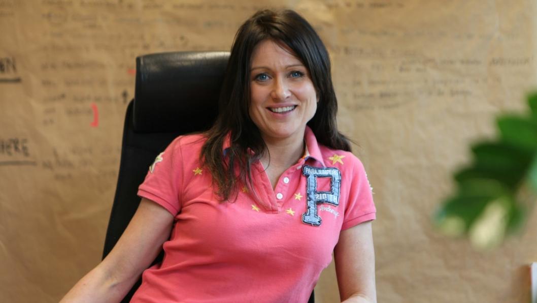 I SJEFSSTOLEN: Anita Tonne trives godt med å få folk i form.