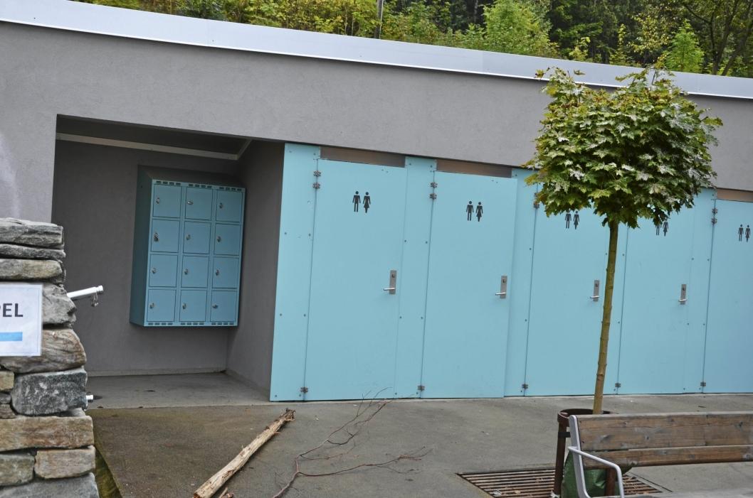 OPPGRADERT: Det har skjedd mye det siste året i Hvervenbukta. Blant annet er toalettanlegget oppgardert.