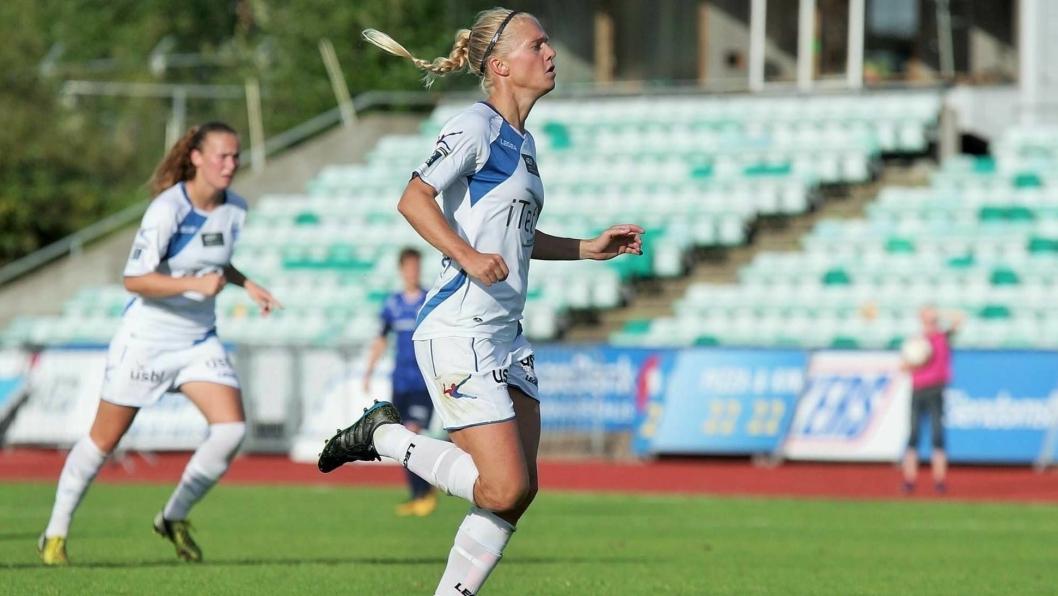 NÅ ER DET SLUTT: Solveig Gulbrandsen legger fotballskoene på hyllen for godt. På søndag spiller hun sin siste