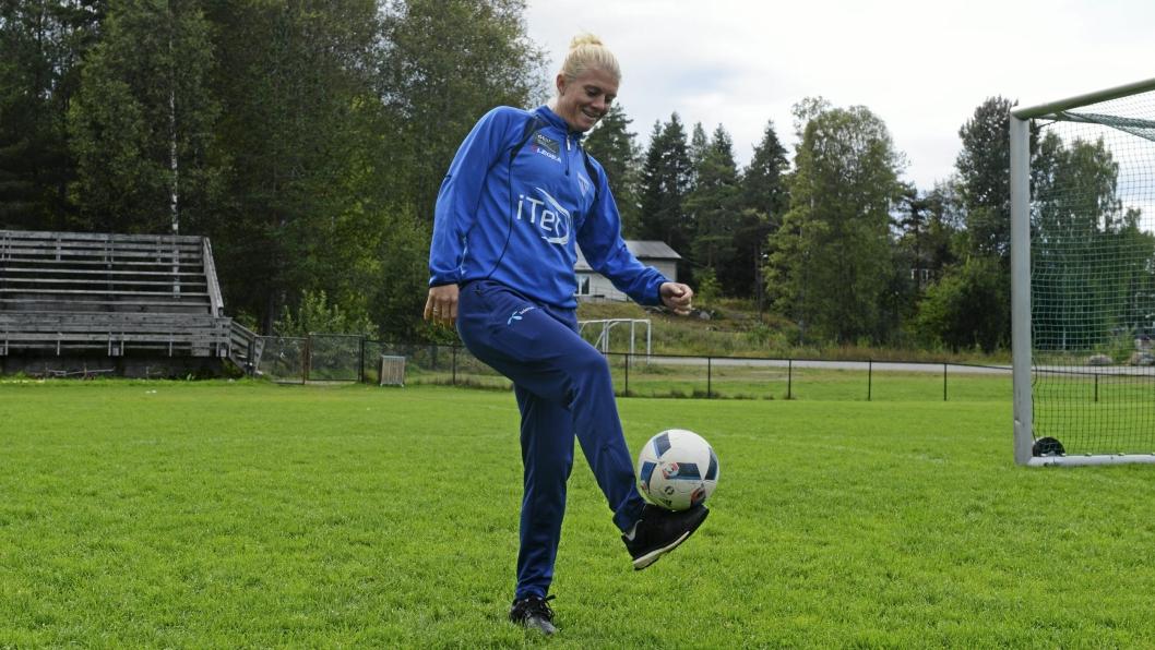 TRIST MEN RIKTIG: Solveig Gulbrandsen er glad for å gi seg i klubben der alt startet.