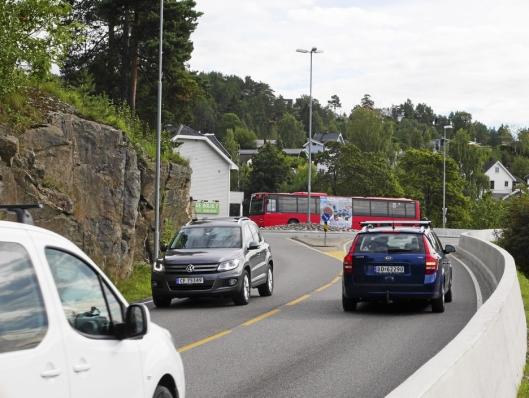 KAN FÅ DOBLE FELT: Rundkjøringen mellom Skiveien og Sønsterudveien kan bli utvidet.