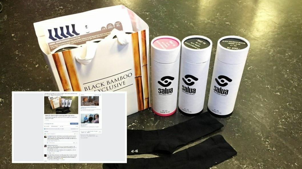 DE OMDISKUTERTE DOKKENE: Salget av sokker i Kolbotn IL har ført til mye debatt i Oppegård Avis i dag.
