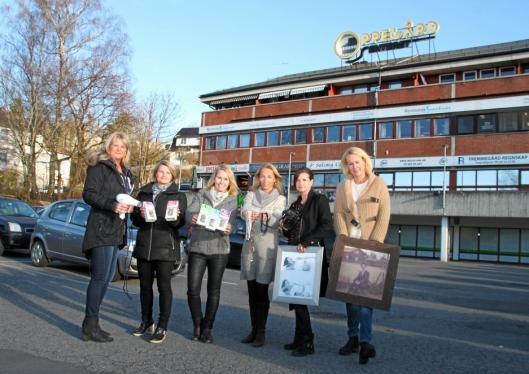 FLERE BEDRIFTER: Ann-Catrin Sønsteby, Kathrine Eriksen, Hilde Mariann Hansen, Karin Andersen, Marianne Melstrøm og Gina Englund er noen av utleierne på Oppegårdsenteret.