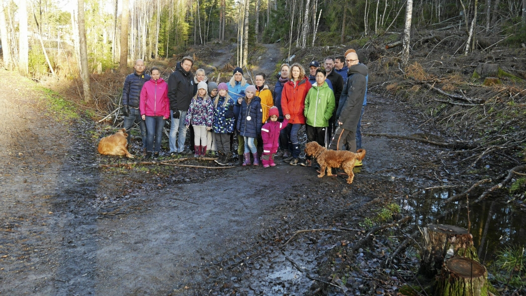 KREVER OPPRYDING: – De kan ikke la hogstavfallet ligge i vilt kaos i det populære friluftsområdet, sier Reidar Finsrud. Han får støtte fra flere andre innbyggere på Tårnåsen og Sofiemyr.