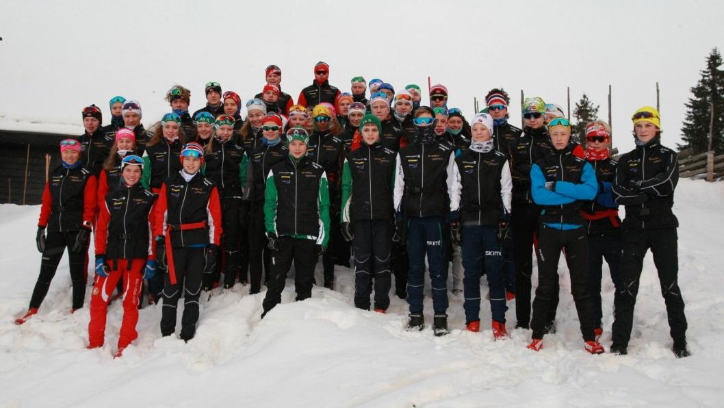 LITT AV EN GJENG: Det er ingen tvil om at Skiteam Follo gjorde seg godt bemerket under samlingen på Sjusjøen. Nå skal det trenes foran årets sesong og skiløp.