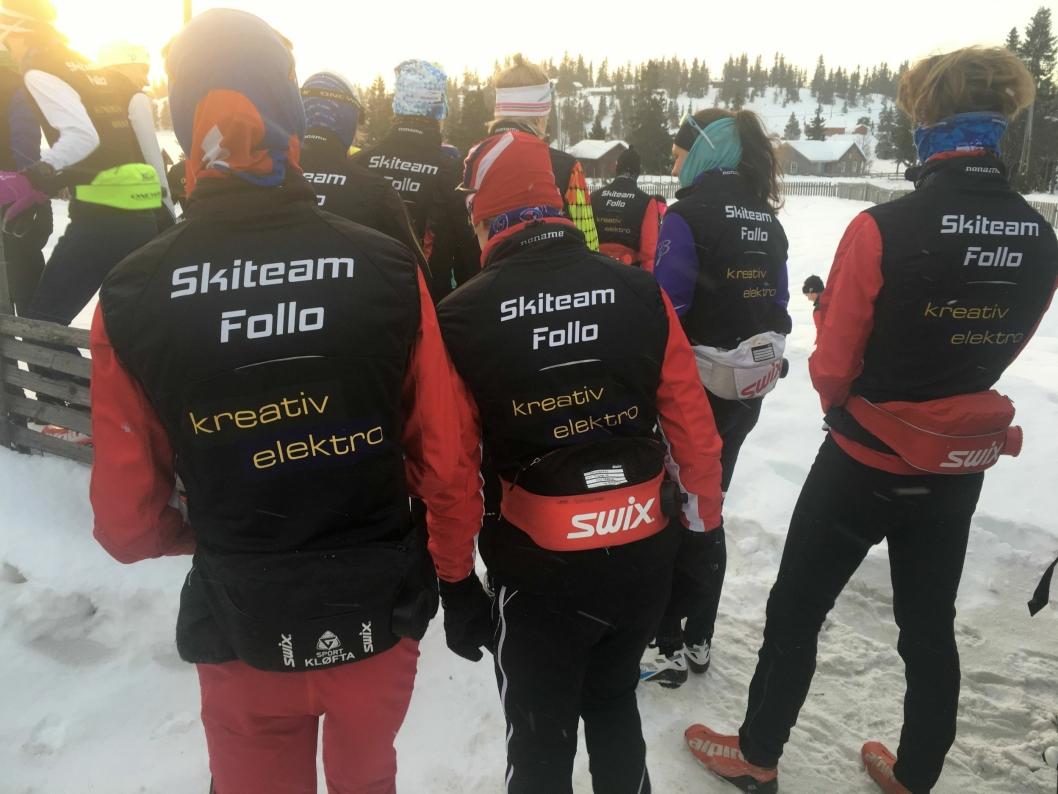 MANGE KLUBBER - FELLES DRAKT: Skiteam Follo skaper samhold og ikke minst felles treningsglede mot årets mål.