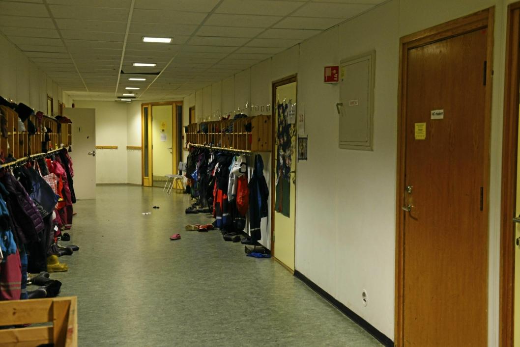 I GANGEN: Her ser du gangen i paviljong fire som nå er stengt.