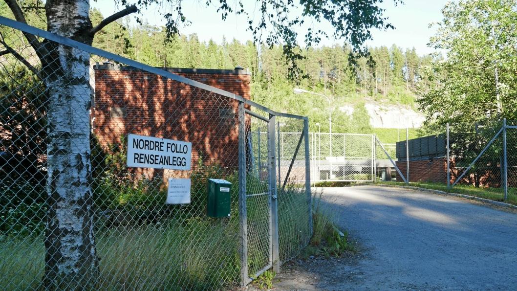 FULL STOPP: Nordre Follo Renseanlegg ligger på Vinterbro, rett ved Gjersjøens utløp.
