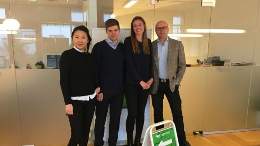 GIR GODE RÅD: Ida Alve Koppang (f.v.), Sebastian Håbesland, Marte Østnes og Jon Syver Ternå hos Krogsveen er klar for 2017!