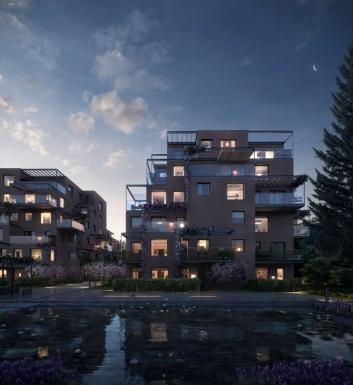 I MØRKET: Her ser du en illustrasjon som viser «Skaret» på kveldstid. Legg merke til terrassene!