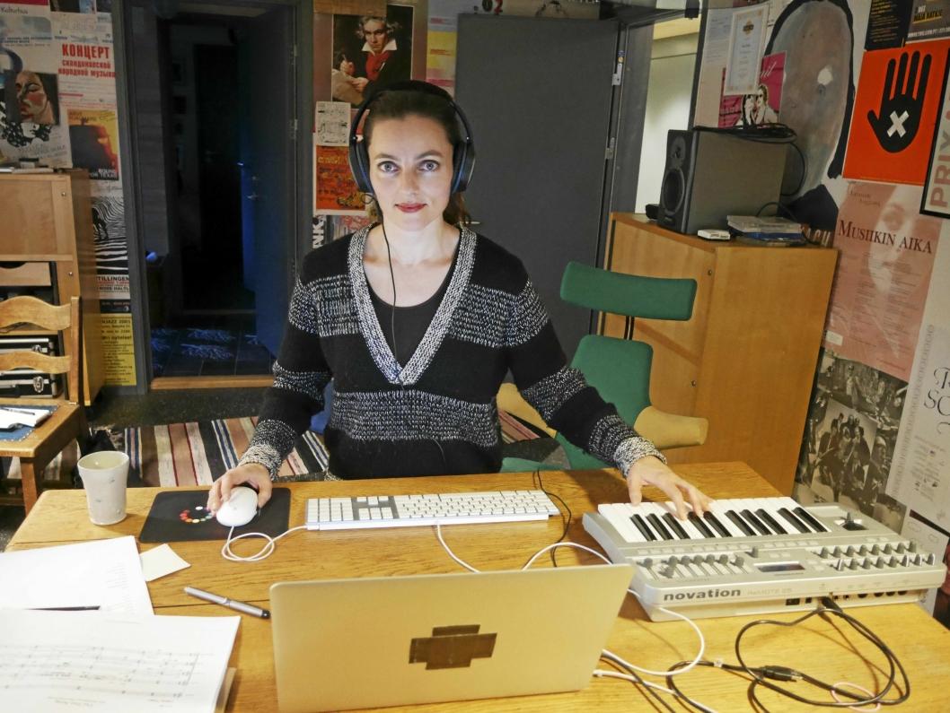 I STUDIO: Maja S. K. Ratkje jobber aller helst hjemmefra.