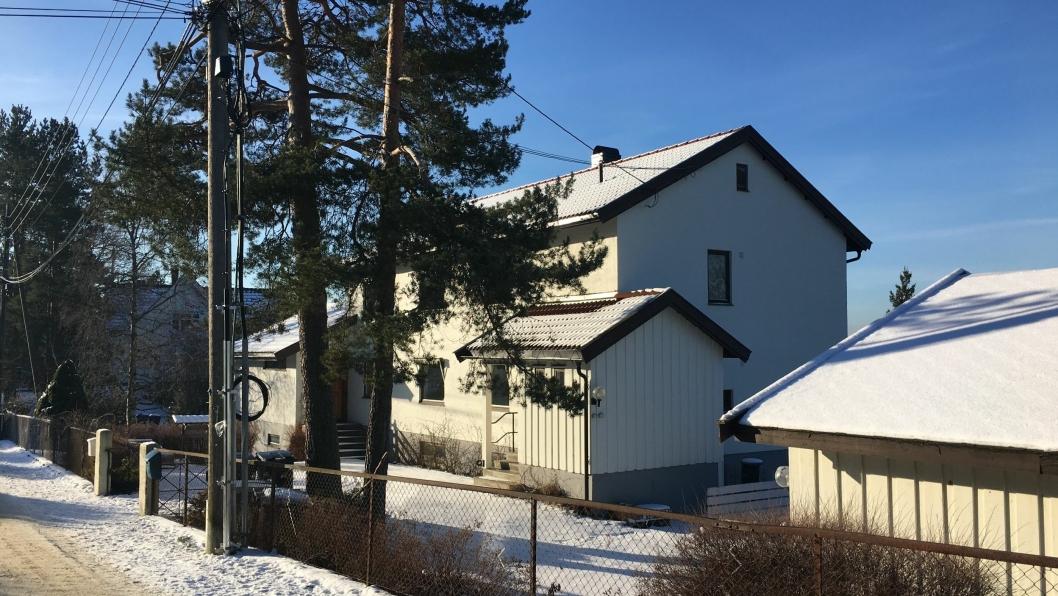 DYREST I JANUAR: Dette huset i Skogveien 14 var den dyrest solgte boligen i Oppegård i januar.