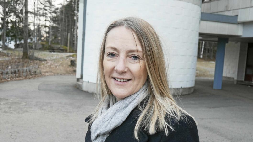 ENGASJERT: Siv Kaspersen tok Oppegård Avis-redaktør Anders Nordheim Dahls oppfordring om å skrive et debattinnlegg på kvinnedagen.