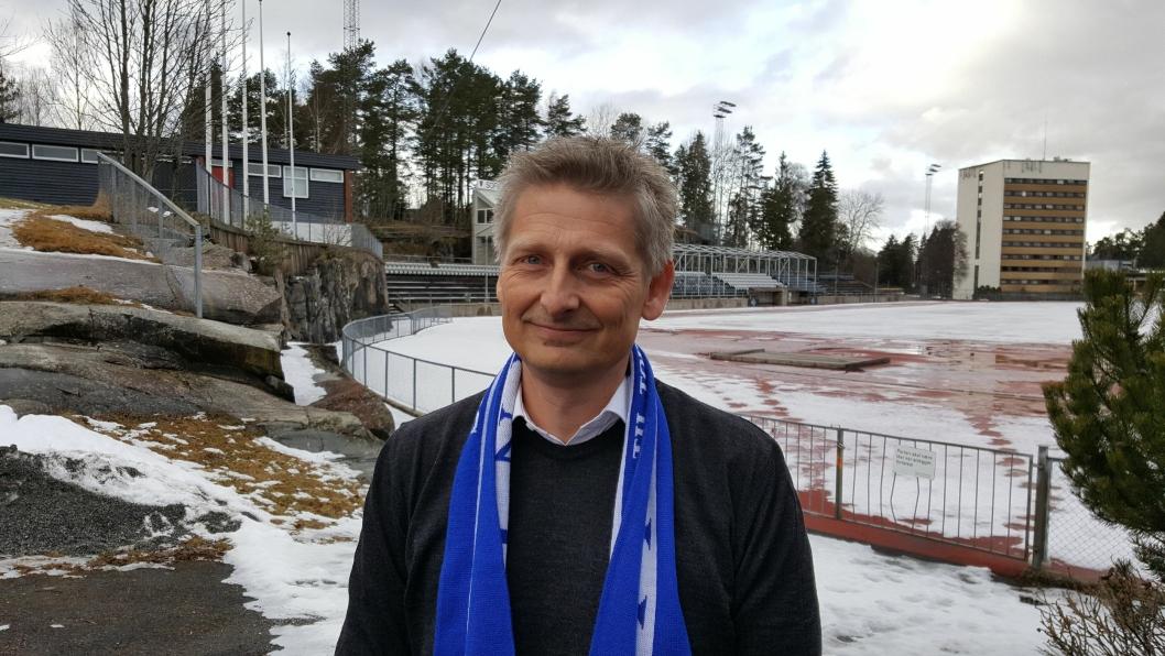 KLAR FOR JOBBEN: Einar Engedahl er ny daglig leder for Kolbotn kvinnefotball. Han gleder seg stort til å ta fatt på jobben.