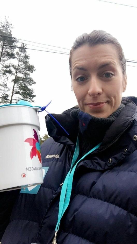 FRIVILLIG: SIlje Pedersen arrangerte innsamlingsdag for Kreftforeningens aksjon Krafttak mot Kreft. (Privat)