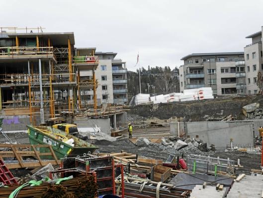 ØNSKER MER MANGFOLDIG BOLIGUTBYGGELSE: Kantor er et av boligprosjektene på Kolbotn for tiden. Debattanten ønsker en mer mangfoldig boligutvikling.