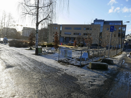 ØNSKER Å BEVARE PARKEN: Kronen Snyen ønsker ikke at Generasjonsparken bak Kolben skal flyttes.