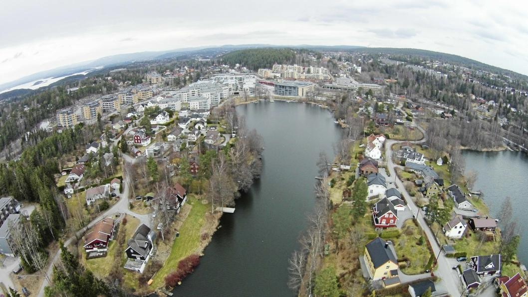 MYE SOM SKAL SKJE: Skjebnen til Kolbotn sentrum skal avgjøres i kommunestyret mandag. Her ser du byen vår fra fugleperspektiv.