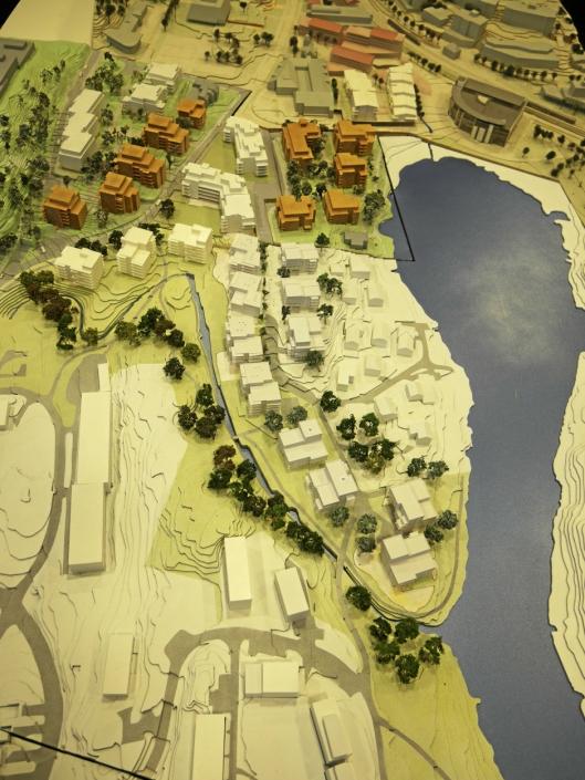 UTBYGGERNES FORSLAG: 20 småhus skal rives og erstattes med 14 boligblokker, mens området med 12 småhus ved Båtsleppa skal bestå.