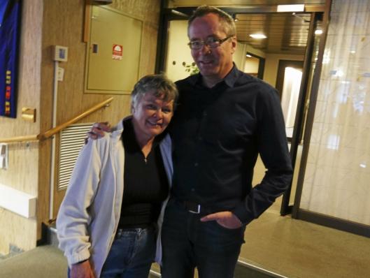 GLADE: Nina Vøllestad (t.v.) i Oppegård Idrettsråd og daglig leder Harald Vaadal i KIL er glade for storsatsningen som nå er vedtatt.