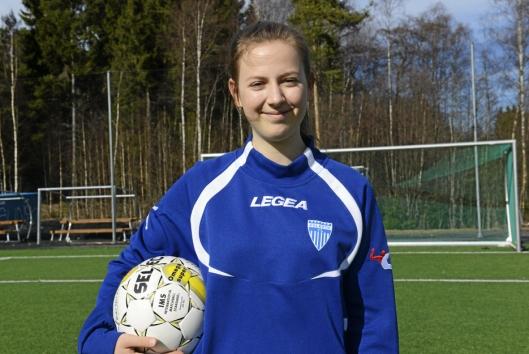 TALENT: 16 år gamle Marthea Meier har fått prøve seg i landslagsdrakten. Det ga mersmak.