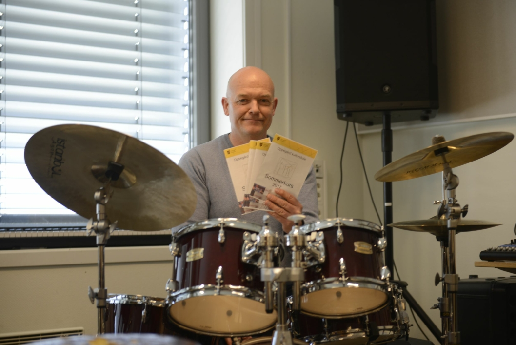 MUSIKKVERKSTED: Musikkverkstedet er et nytt kurs av året, og rektor Rune Molvær tror det blir en suksess.