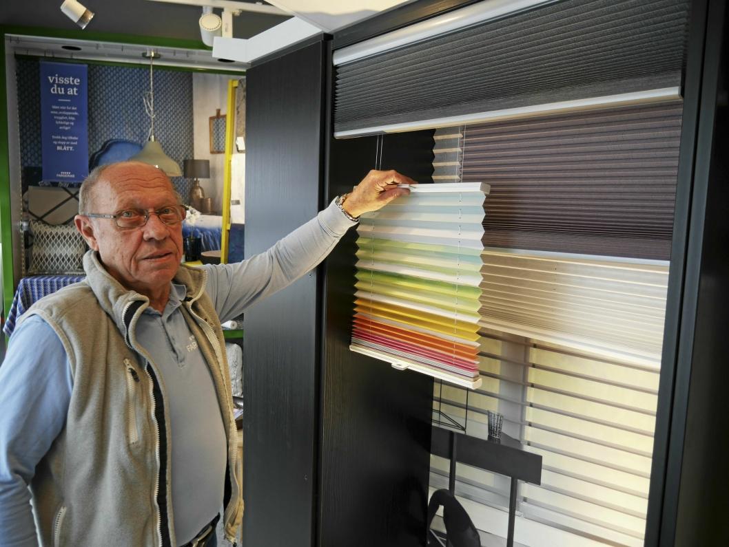 PÅ FREMGANG: – Fortetting fører til økt salg av innsynsskjemende produkter, forteller Sven Gudbrandsen.