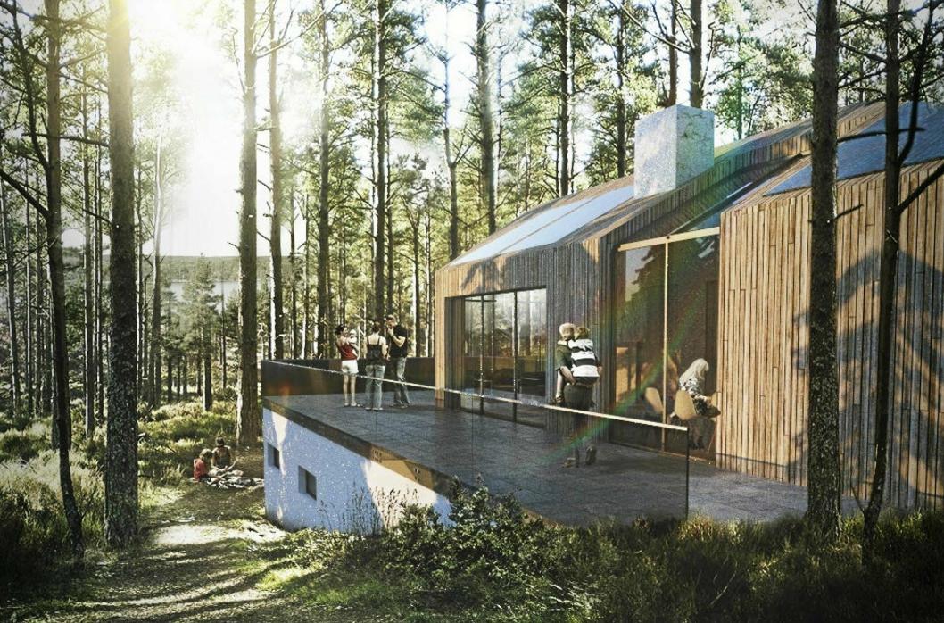 MILJØVENNLIG: Birk & CO ønsker en miljøvennlig profil med passivhus som passer inn i skogsmiljøet.