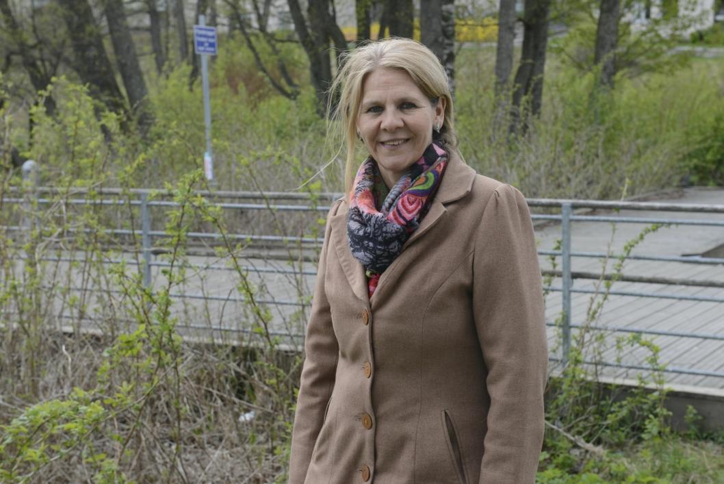 KLAR FOR Å RYDDE: Ingrid Nissen.