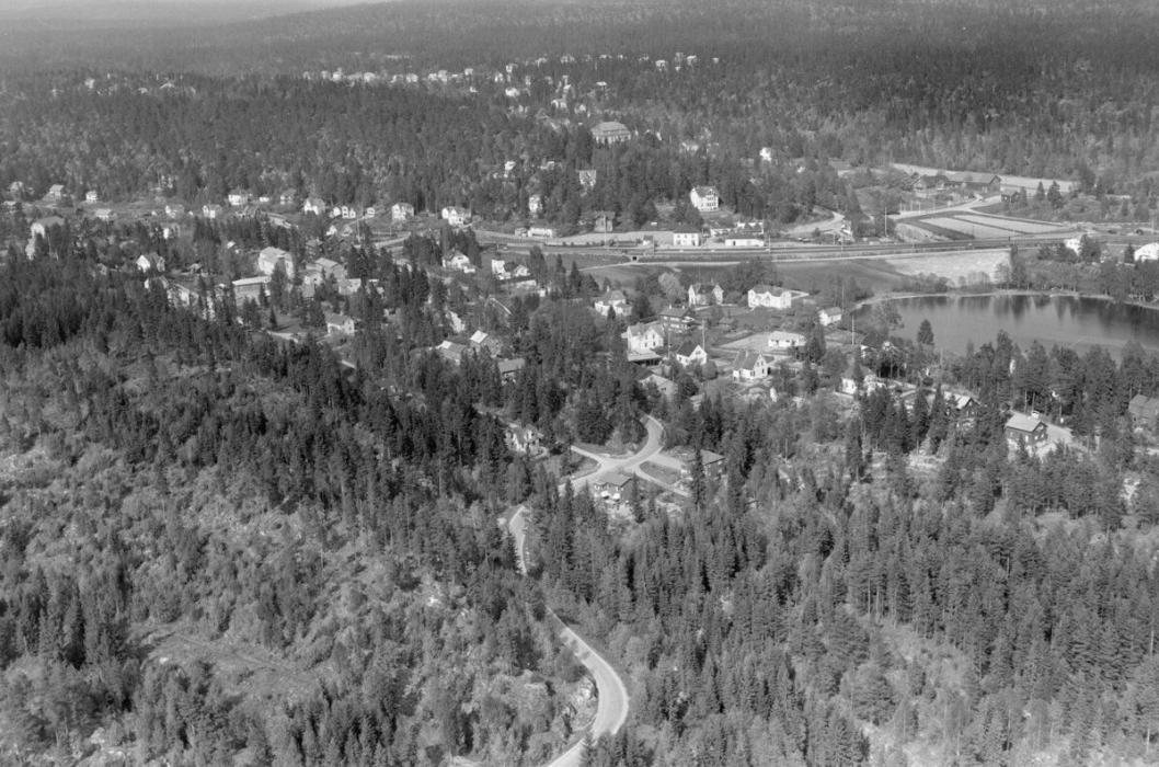 i 1954: Slik så det ut på Kolbotn for 63 år siden.