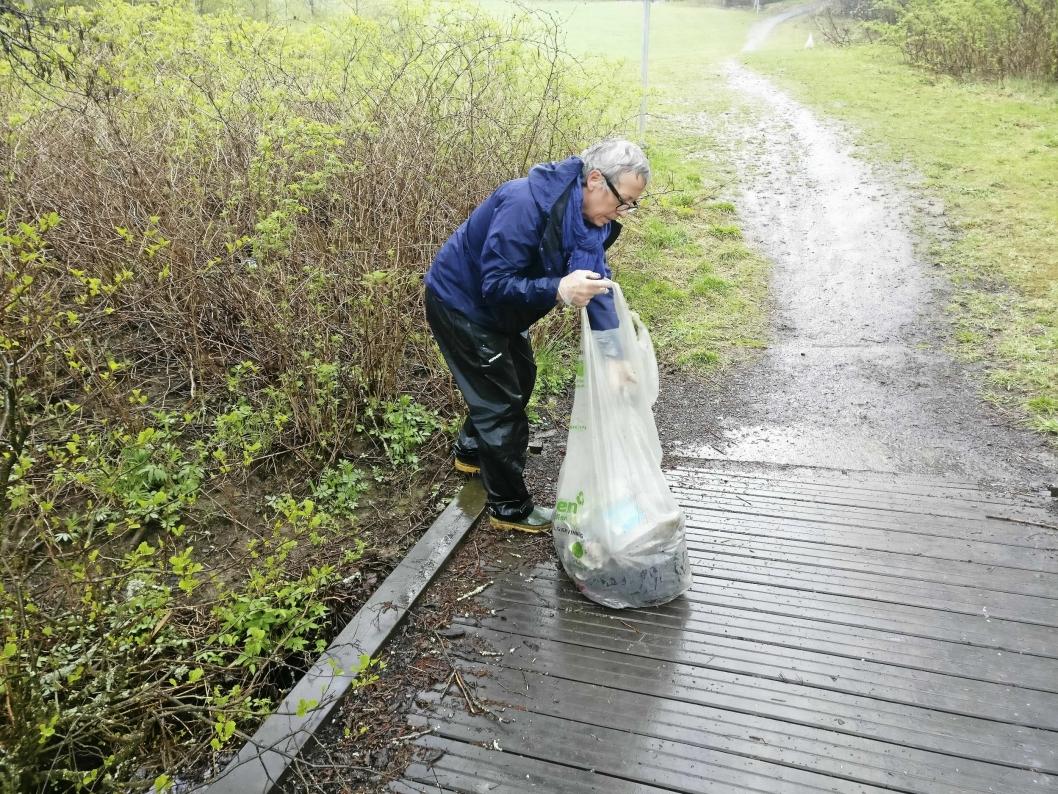 VAR MED: Birgit Siljeholt fra Oppegård SV i aksjon.