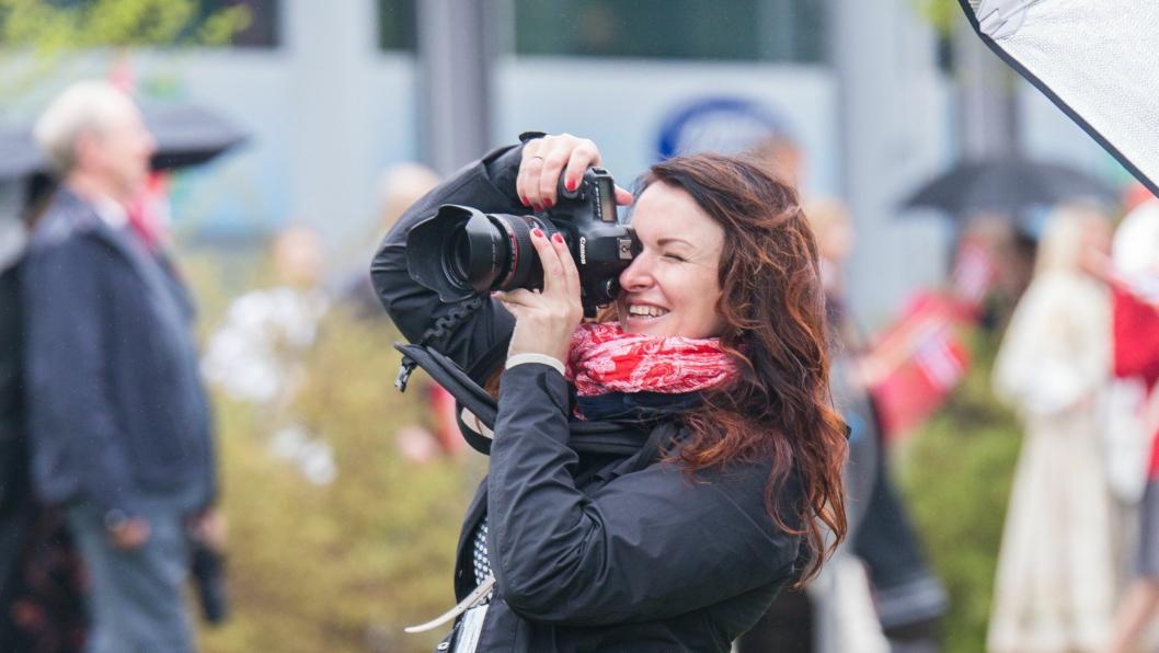 I AKSJON: Natalia Pipkina var i aksjon på 17. mai.