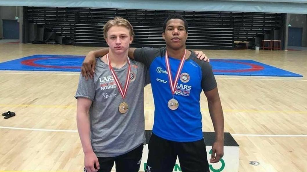 KNALLSTERKE: Håvard Jørgensen (t.v.) og Sebastian Aak tok begge medaljer.
