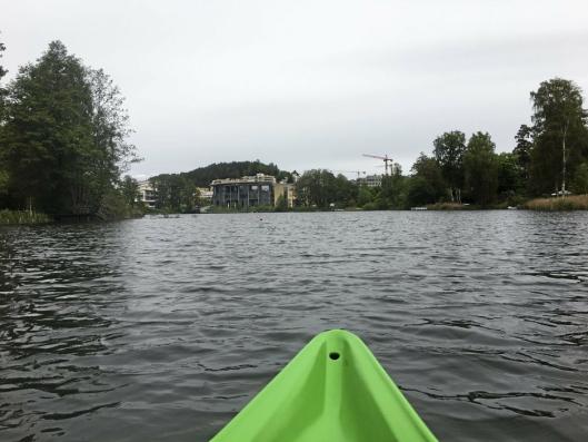STOR KOS: Å padle i kano på Kolbotnvannet er helmaks!