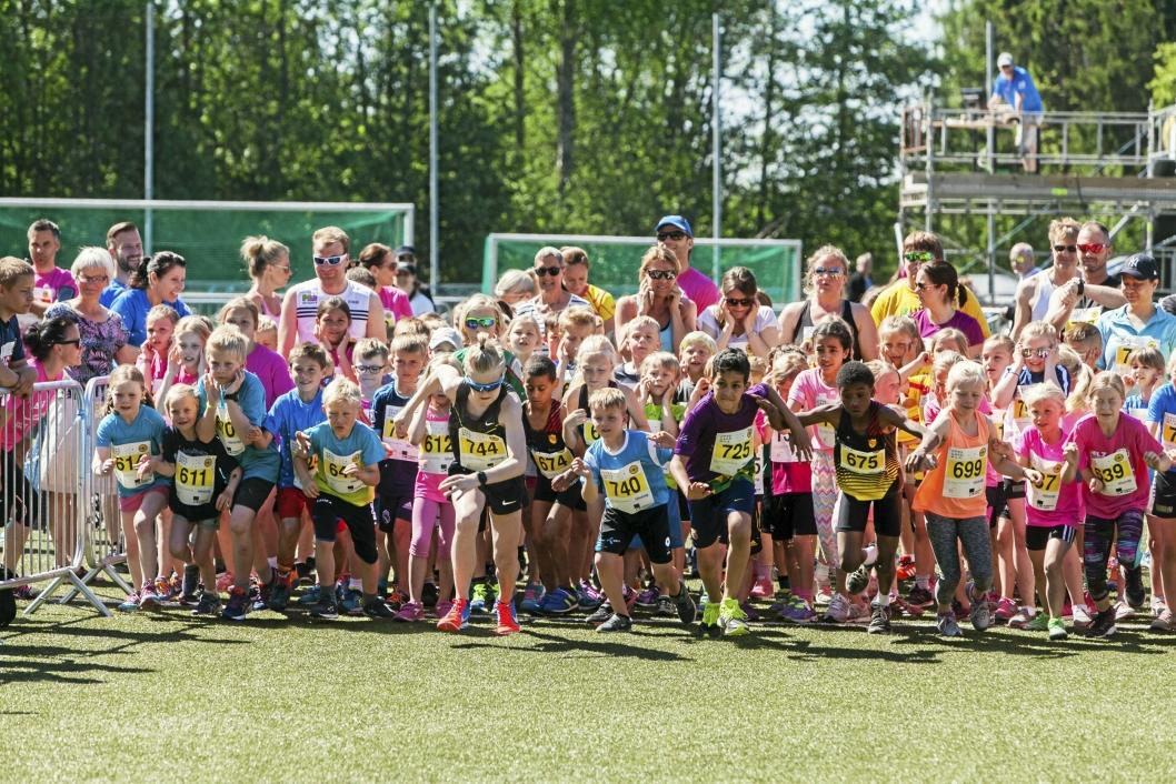MORO FOR ALLE: Oppegårdmila er en knalldag for hele familien. Her ser du et bilde fra et tidligere løp.