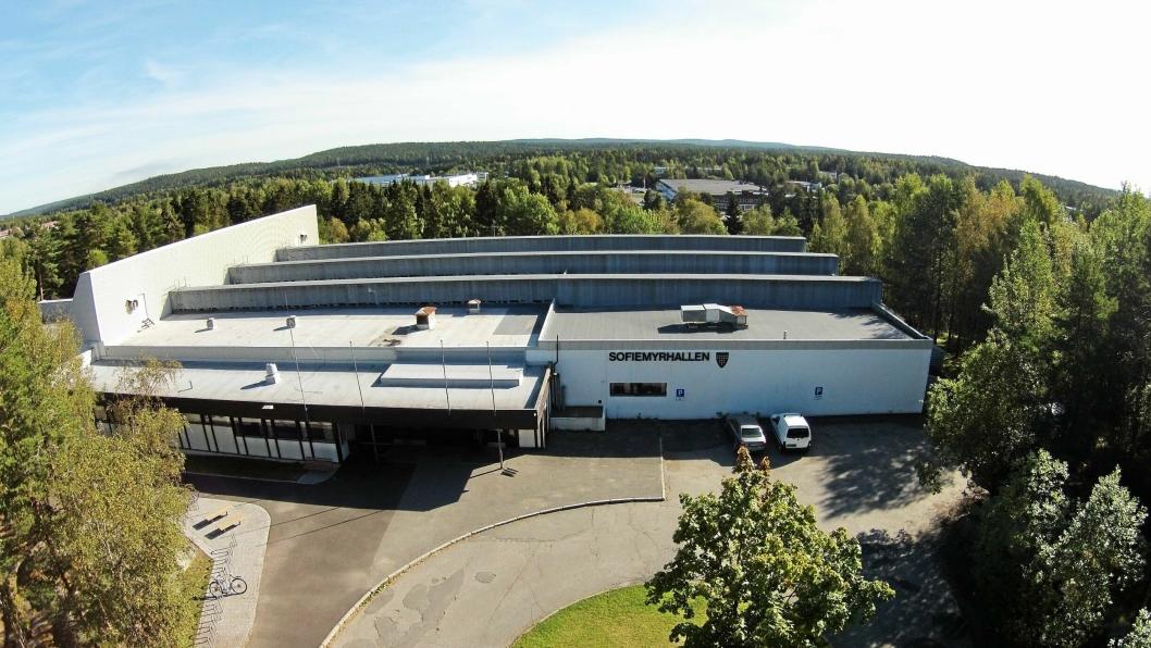 IDRETTSHALL TIL SALGS: En av de kommunale eiendommene som kommunen ønsker å kvitte seg med, er Sofiemyrhallen.