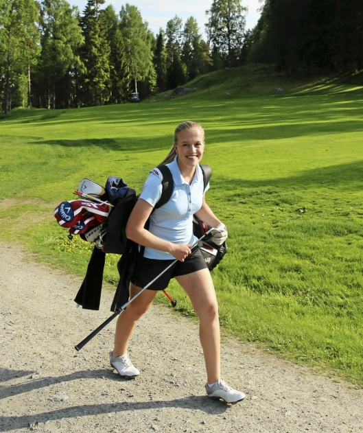 Her på Oppegård Golfklubb på Østre Greverud at Michelle Forsland har tilbrakt utallige timer for å bli et av Norges største golftalenter.