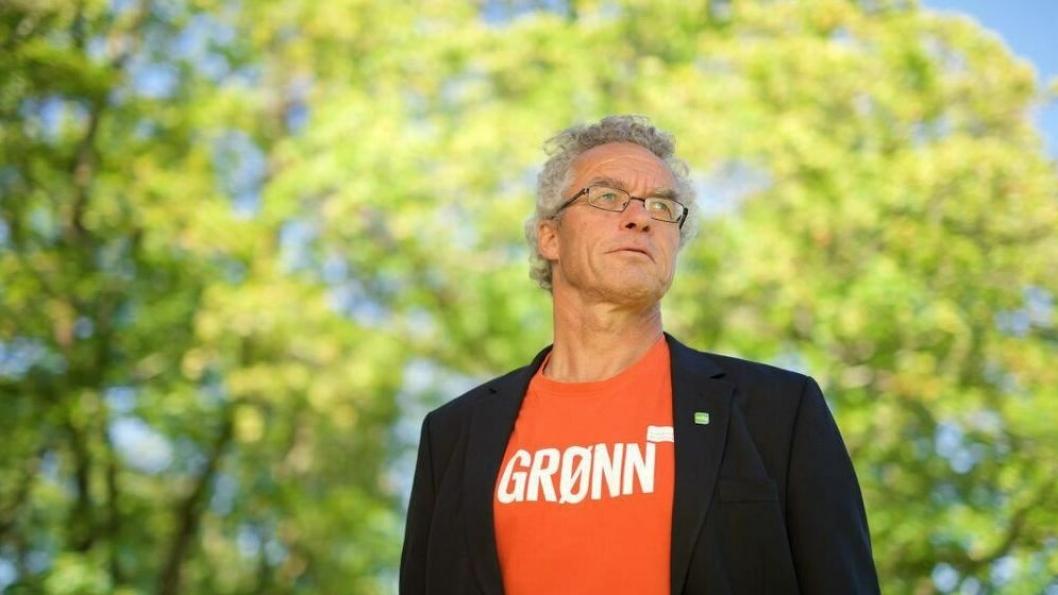 KLAR I TALEN: Rasmus Hansson, 1 kandidat til Stortinget Miljøpartiet De Grønne i Akershus, mener Taraldrud-planene ikke tar hensyn til støyproblematikken.