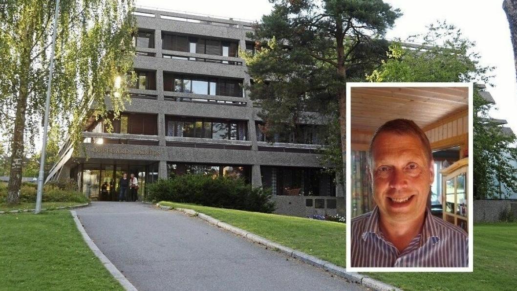 KRITISK: Severin Breivik (innfelt) er skeptisk til salget av rådhuset.