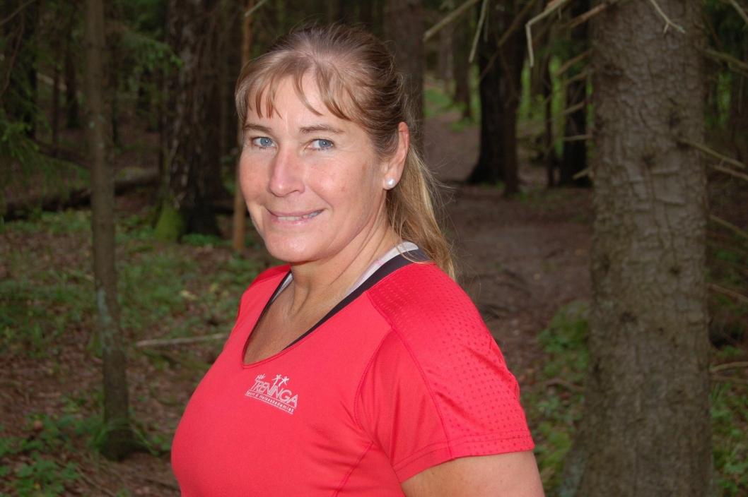 EKSPERTEN: Trine Hattestad fra Myrvoll driver sitt eget treningssenter «På treninga», og gikk rett fra pilates-time til intervju.